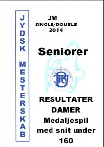 DAMER MEDALJESPIL snit under 160