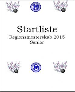 2015 Regionsmesterskab STARTLISTE