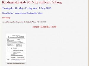 2016 KREDSMESTERSKAB TAVLE